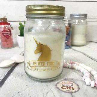 Bougie jar - Licorne