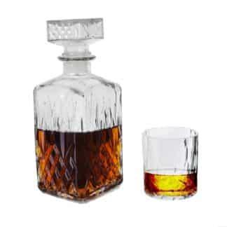 Coffret cadeau - Bouteille à Whisky et ses 4 verres