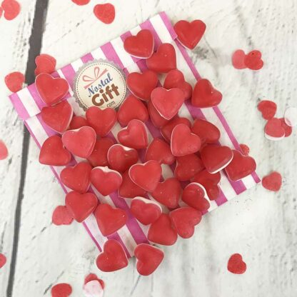 Bonbons petits coeurs rouge et blanc Haribo x50