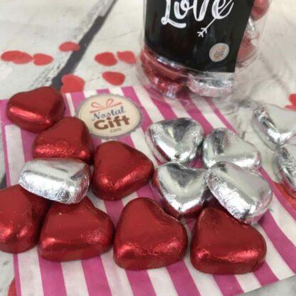 "Bonbonnière Saint Valentin - Coeur chocolat fourré caramel x40 - ""My Love"""