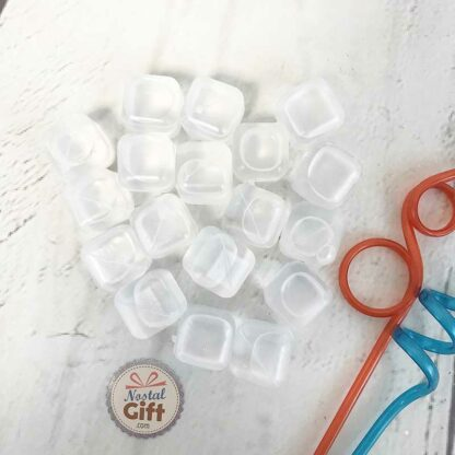 Glaçons réutilisables transparents (Lot de 18)
