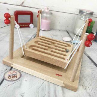 Labyrinthe de 2 à 4 joueurs à cordelettes - jeu d'adresse traditionnel en bois