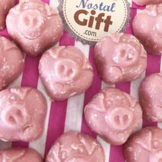 Bonbons Tête de cochon x 20 (goût chocolat blanc)
