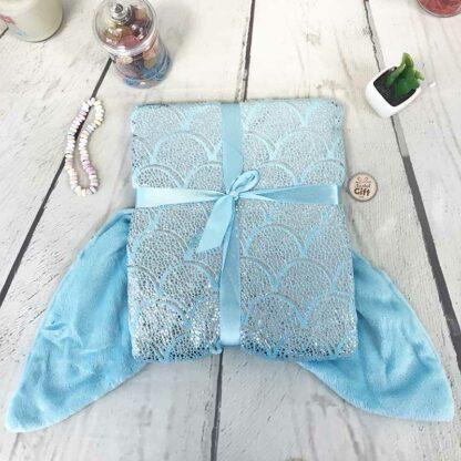 Plaid sirène bleu tahiti