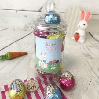 Bonbonnière de Pâques - Oeufs au chocolat Licorne x 9