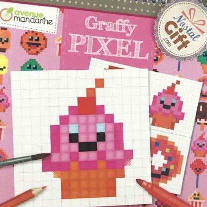 Coloriage Graffy Pixel - Gourmandise Kawai (12 X 2 modèles)