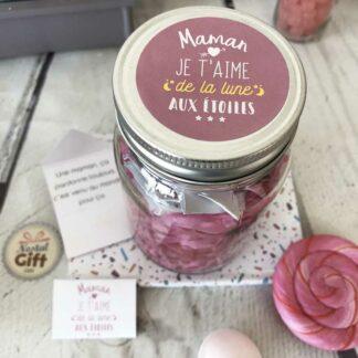 """Bocal à message """"A ma maman d'amour et de toujours"""" - Idée cadeau Maman"""