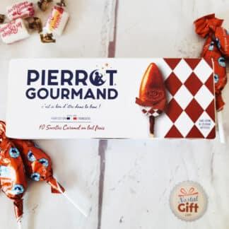 Etuit 10 Sucettes Pierrot Gourmand Caramel au lait frais