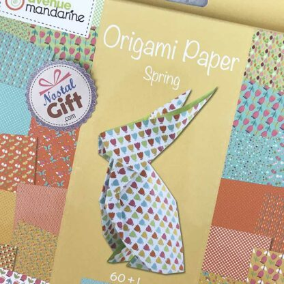"""Papier origami - 60 feuilles : motifs fleur, nid d'abeille, confetti, papillons...  + 1 planche de stickers """"paire d'yeux"""""""