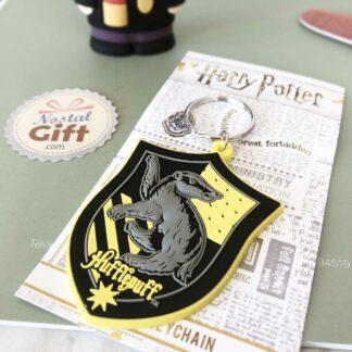 Porte clé emblème poufsouffle - Harry Potter