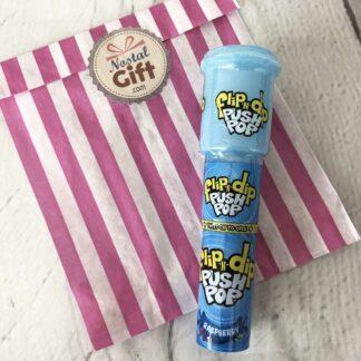 Flip-N-Dip - Push Pop : sucette à tremper - framboise