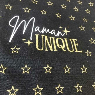 "Tote bag maman noir - ""Maman unique"""