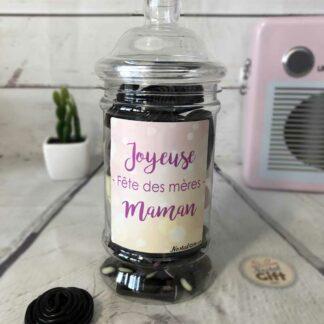 """Bonbonnière maman – """"Joyeuse fête des mères"""" - 50 Réglisses"""