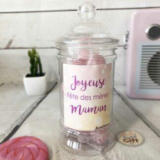 """Bonbonnière maman – """"Joyeuse fête des mères"""" - 20 bonbons Cœur poudre"""
