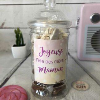 "Bonbonnière Maman – ""Joyeuse fête des mères"" - 10x Nougats - 10x Caramel"