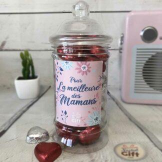 Bonbonnière maman – Pour la meilleure des mamans - Cœur chocolat 300g