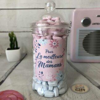 Bonbonnière maman – Pour la meilleure des mamans - Cœur dextrose 400g