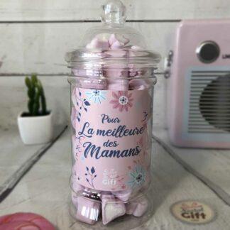 Bonbonnière maman – Pour la meilleure des mamans - 80 Petits cœurs guimauve