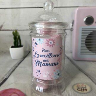 Bonbonnière maman – Pour la meilleure des mamans - 20 bonbons Cœur poudre