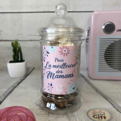 """Bonbonnière maman – """"Pour la meilleure des mamans"""" - 10x Nougats - 10x Caramel"""