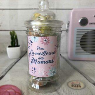 """Bonbonnière maman – """"Pour la meilleure des mamans"""" - Bonbons Rock 200g"""