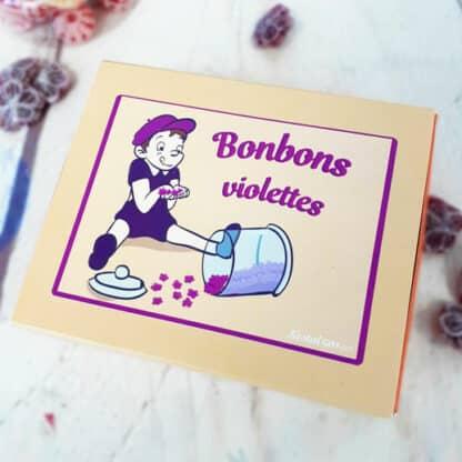 Boîte de bonbons violettes - 200g