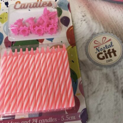 Bougies Happy Birthday (1 bougie par lettre)