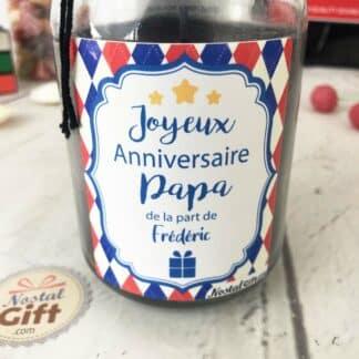"""Bougie Jar personnalisée """"Joyeux anniversaire Papa"""""""