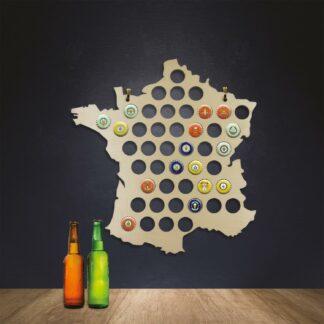 Carte de France - Caspules de bières à collectionner