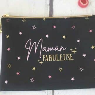 """Trousse noir """"Maman Fabuleuse"""""""