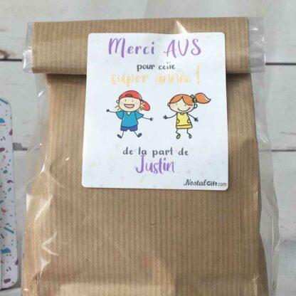 Sachet Bonbon des années 80  personnalisé - Cadeau AVS - Dessins d'enfants