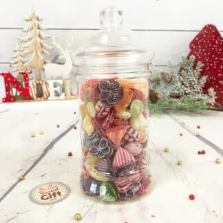 Bonbonnière personnalisée - 300g mix de bonbons anciens - Noël Cerf