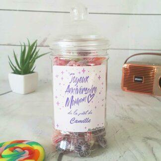 Bonbonnière personnalisée - 300g mix de bonbons anciens - Joyeux anniversaire Maman