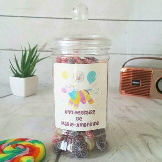 Bonbonnière personnalisée - 300g mix de bonbons anciens - Anniversaire Pinata