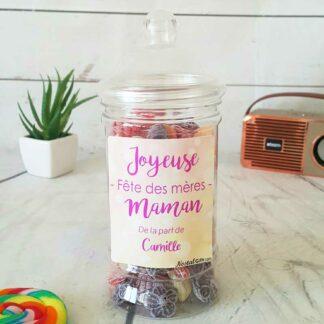 Bonbonnière personnalisée - 300g mix de bonbons anciens - Joyeuse fête des mères