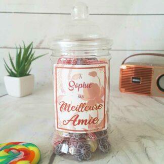 Bonbonnière personnalisée - 300g mix de bonbons anciens - Meilleure amie