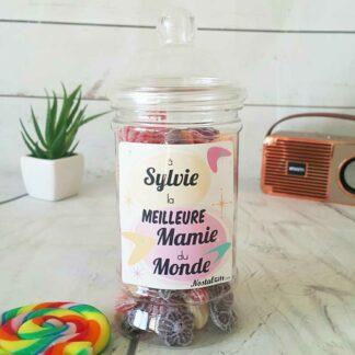 Bonbonnière personnalisée - 300g mix de bonbons anciens - Meilleure mamie