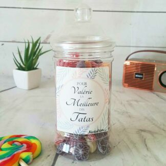 Bonbonnière personnalisée - 300g mix de bonbons anciens - Meilleure Tata