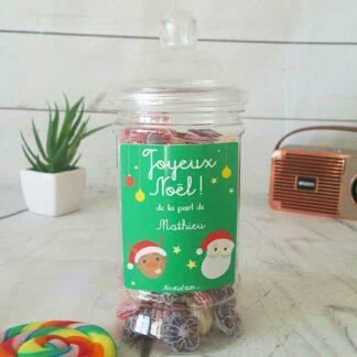 Bonbonnière personnalisée - 300g mix de bonbons anciens - Père Noël