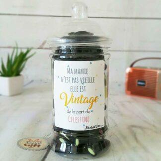 Bonbonnière personnalisée – 50 réglisses - Mamie vintage