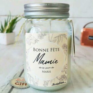 Bougie Jar personnalisée - Bonne fête Mamie