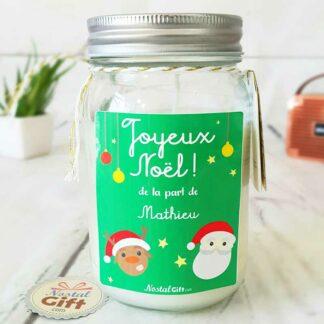 Bougie Jar personnalisée - Père Noël