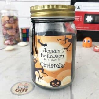 Bougie Jar personnalisée - Halloween