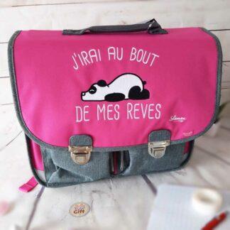 Cartable Vintage 38 cm J'irais au bout de mes rêves - Quo Vadis