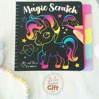 Bloc de magic scratch Licorne