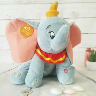 Peluche Dumbo Bleue avec son - 30 cm