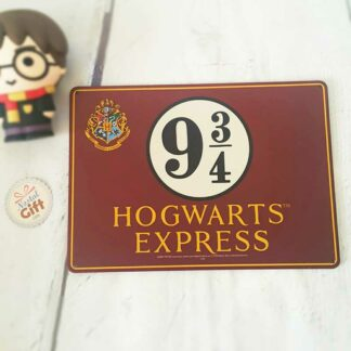 "Plaque en métal ""Hogwarts express"" - Harry Potter"