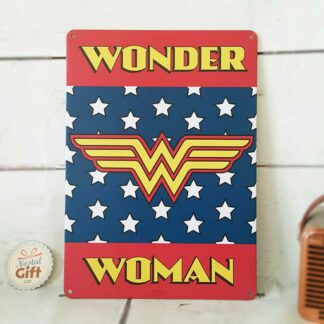 "Plaque en métal ""Wonder Woman"""