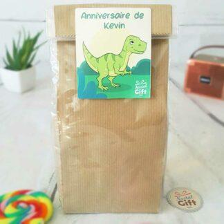 """Sachet Bonbon des années 90  personnalisé - """"Anniversaire"""" - Dino"""