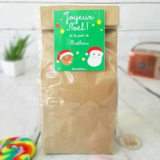 Sachet Bonbon des années 70  personnalisé - Père Noël